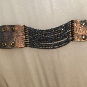 Nakamol Beaded and Leather Bracelet
